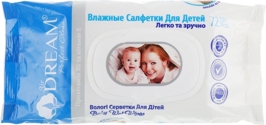 Влажные салфетки для детей, 72 шт с клапаном - Air Dream
