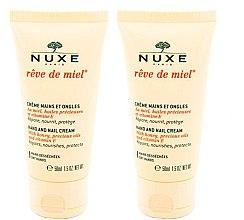 Парфумерія, косметика Набір - Nuxe Reve de Miel Hand And Nail Cream Set (h/cream/2x50ml)