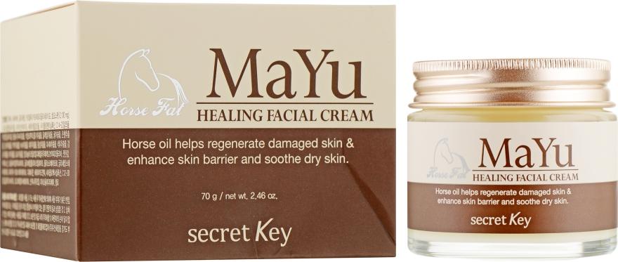 Крем восстанавливающий с конским жиром - Secret Key MAYU Healing Facial Cream — фото N1