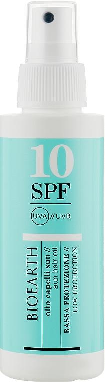 "Масло для волос ""Защита от солнца"" SPF 10 - Bioearth Sun Oil Solar Hair SPF 10"