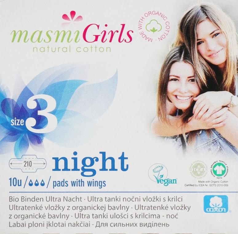 Прокладки ультратонкие гигиенические для подростков Girl, 10 шт - Masmi