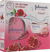 "Парфумерія, косметика Набір ""Гранат"" - Johnson's Vita-Rich (sh/gel/250ml + soap/125g)"