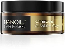 Духи, Парфюмерия, косметика Маска для волос с древесным углем и белой глиной - Nanoil Charkoal & White Clay Hair Mask