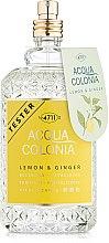Духи, Парфюмерия, косметика Maurer & Wirtz 4711 Aqua Colognia Lemon & Ginger - Одеколон (тестер без крышечки)