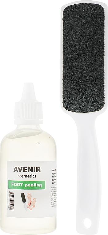 Набор для педикюра - Avenir Cosmetics (f/peeling/100ml + f/grater)
