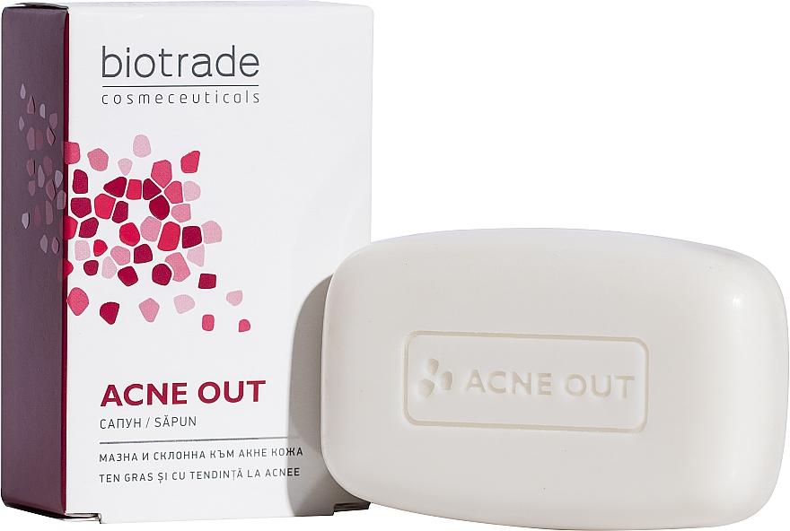 Мыло-уход для глубокого очищения кожи лица - Biotrade Acne Out Soap