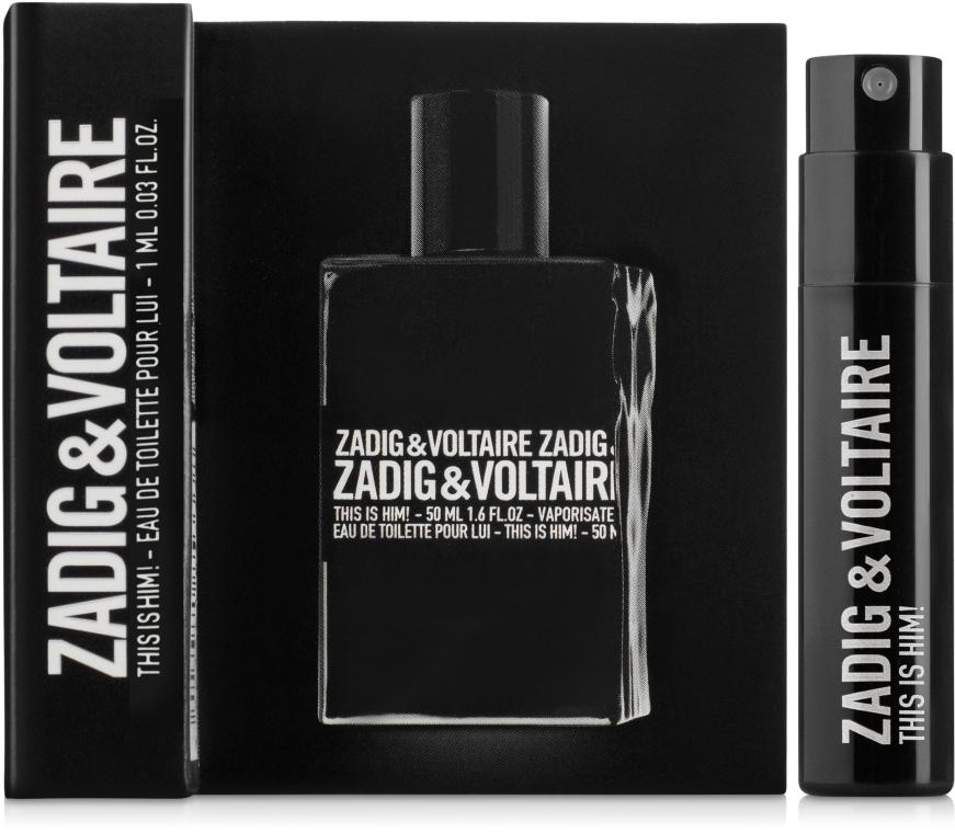 Zadig & Voltaire This is Him - Туалетная вода (пробник)