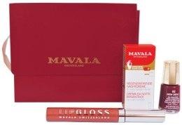 Духи, Парфюмерия, косметика Набор (lacquer/5ml + lip/gloss/6ml + h/cr/5ml + bag) - Mavala