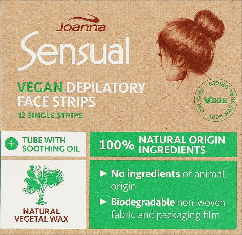Пластырь с растительным воском для депиляции лица - Joanna Sensual Depilatory Vegan Wax Strips — фото N1