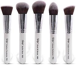Духи, Парфюмерия, косметика Набор кистей для макияжа - Nanshy Gobsmack Glamorous Pearlescent White Face Brush Set