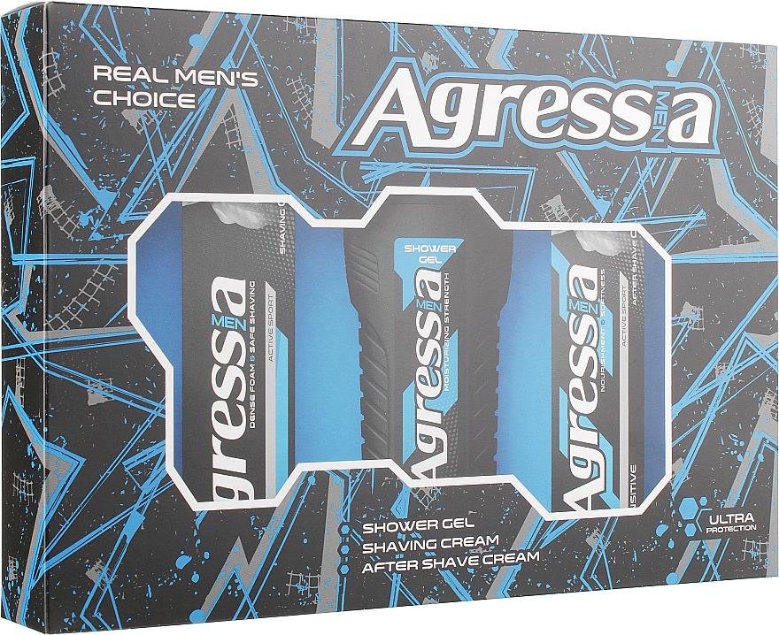 "Подарочный набор ""Sensitive 1"" - Agressia Normal (shm/gel/250ml + cr/100ml + cr/75ml)"