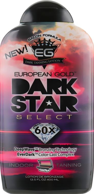 Крем для загара в солярии с эффектом сохранения цвета, золотистый оттенок - European Gold Dark Star 60X