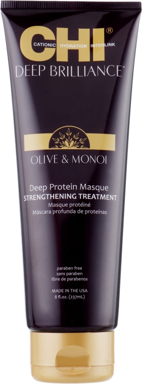 Протеиновая маска для волос - CHI Deep Brilliance Optimum Protein Masque