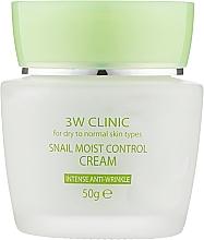 Духи, Парфюмерия, косметика Крем для лица увлажняющий с улиточным муцином - 3W Clinic Snail Moist Control Cream