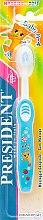 """Парфумерія, косметика Дитяча зубна щітка """"Baby"""", блакитна - PresiDENT Baby Soft"""