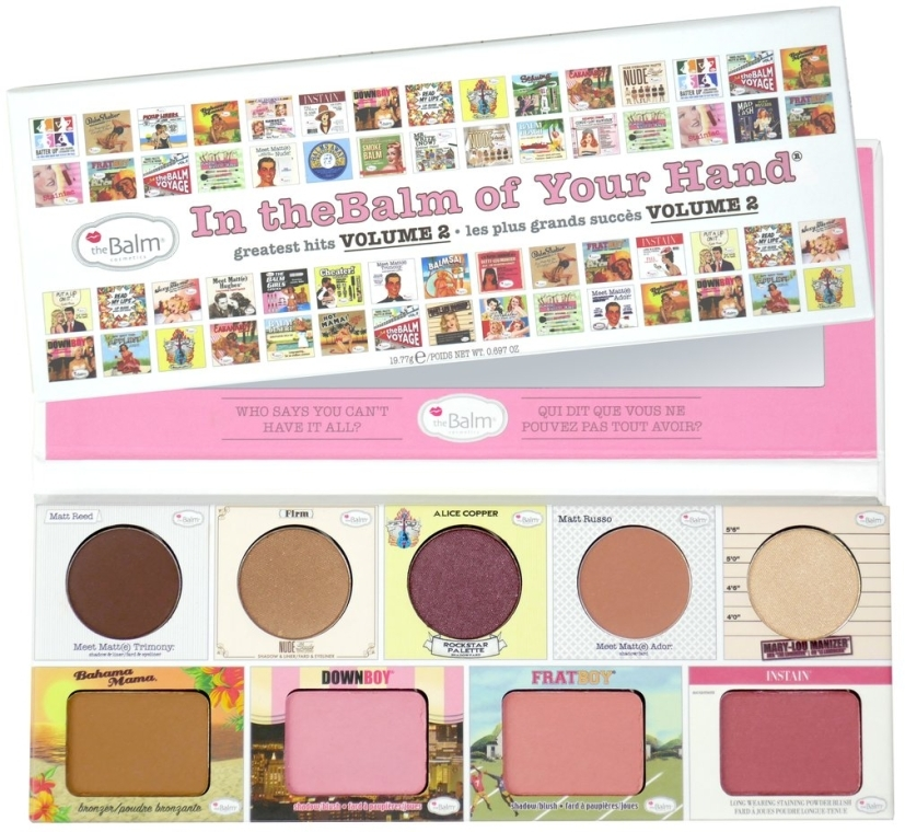 Палетка для макияжа - theBalm In TheBalm Of Your Hand Greatest Hits Volume 2 Palette