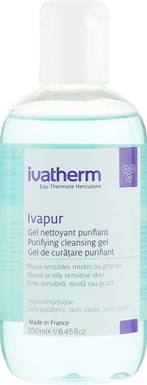 Гель-пенка для комбинированной или жирной чувствительной кожи - Ivatherm Ivapur