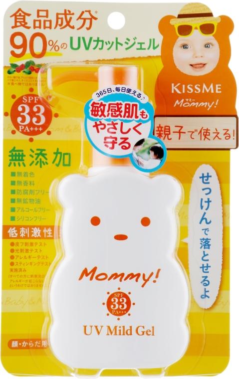 """Мягкий солнцезащитный гель """"Мама"""" - Isehan Mommy UV Mild Gel SPF 33"""