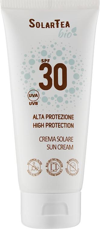 Солнцезащитный крем для чувствительной кожи лица и тела - Bema Cosmetici Solar Tea High Protection Sun Cream SPF30