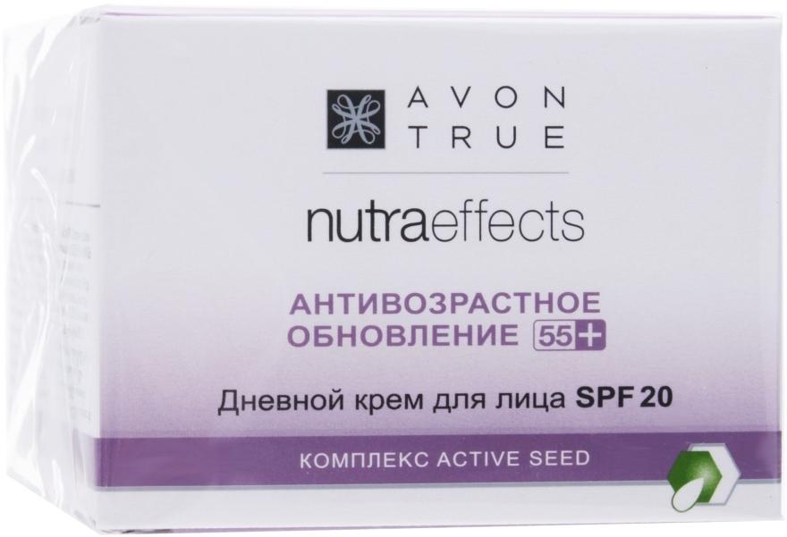 """Дневной крем для лица """"Антивозрастное обновление 55+"""" SPF 20 - Avon True Nutra Effects"""