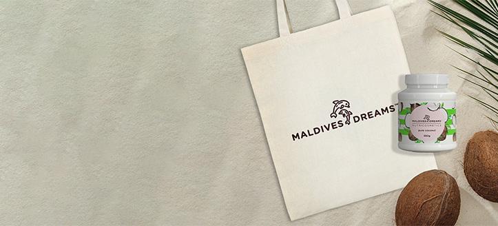 Сумка-шоппер в подарок, при покупке продукции Maldives Dreams на сумму от 300 грн