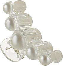 """Парфумерія, косметика Крабик для волосся """"5 Perlin"""", HA-1251, білий - La Rosa"""