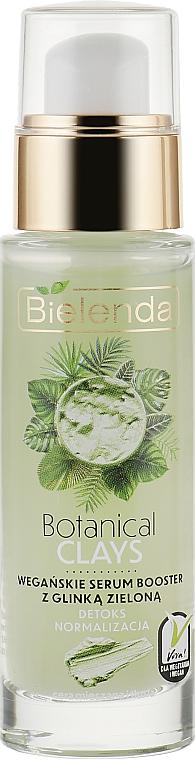 Сыворотка-бустер с зеленой глиной для лица - Bielenda Botanical Clays Vegan Serum Booster Green Clay