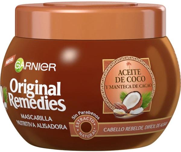 Питательная выпрямляющая маска для волос с кокосом - Garnier Original Remedies Nourishing Straightening Hair Mask With Coconut