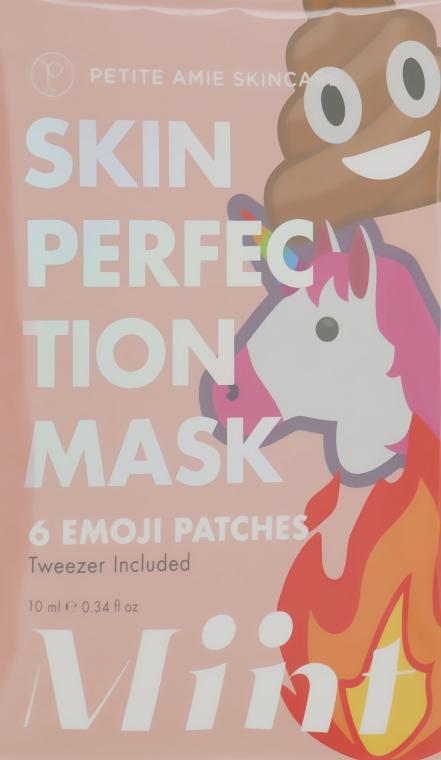Маска-патчи для проблемной кожи лица - Petite Amie Skin Perfection Mask, Emoji Patches