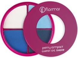 Духи, Парфюмерия, косметика Тени для век - Flormar Pretty Compact Quartet Eyeshadow