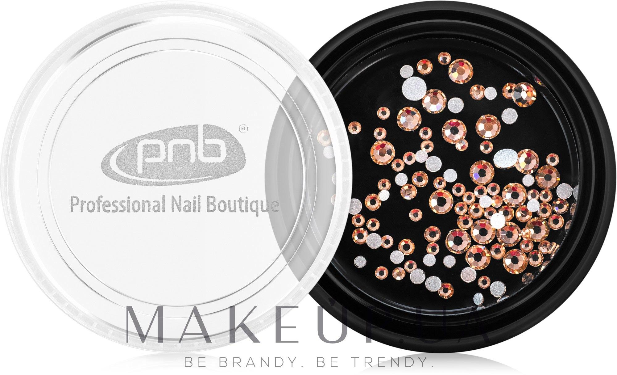 Стразы для ногтей - PNB Champagne Mix SS3,5,10 Glass — фото 100шт