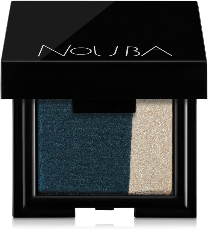 Двойные тени для век - NoUBA Hidden Black Duo Eyeshadow
