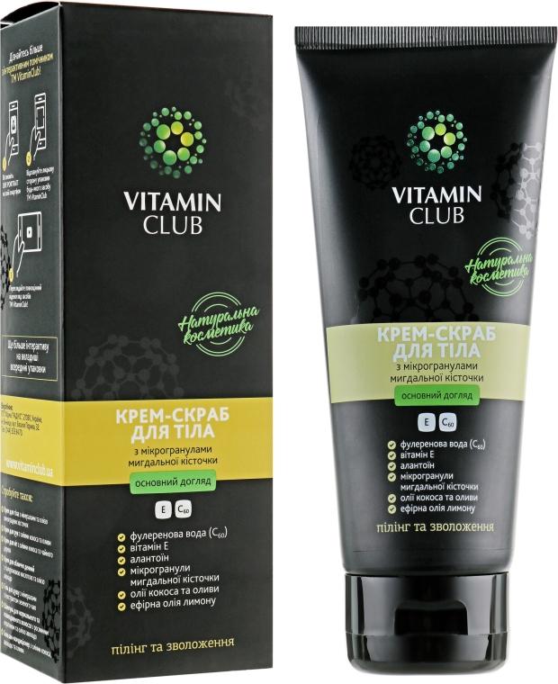 Крем-скраб для тела с микрогранулами миндальной косточки - VitaminClub
