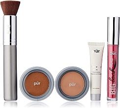 Духи, Парфюмерия, косметика Набор - Pur Minerals Best Sellers Starter Kit Blush Medium (primer/10ml+found/4.3g+bronzer/3.4g+mascara/5g+brush)