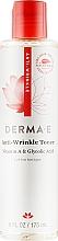 Духи, Парфюмерия, косметика Тоник с витамином А, гликолевой кислотой и экстрактом папайи против морщин - Derma E Anti-Wrinkle Toner