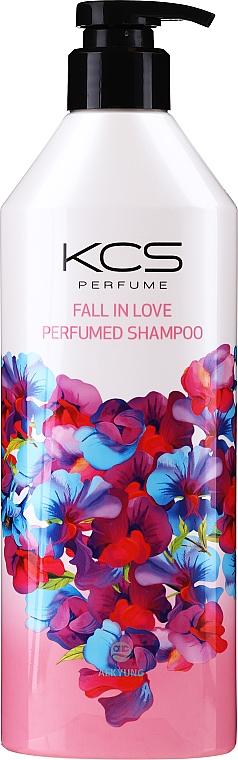 Увлажняющий шампунь для сухих и поврежденных волос - KCS Fall In Love Perfumed Shampoo