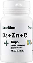 Духи, Парфюмерия, косметика Витаминно-минеральный комплекс D3 + Zinc + С, в капсулах - EntherMeal