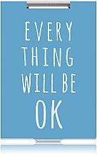 """Духи, Парфюмерия, косметика Зеркало прямоугольное """"Everything Will Be Ok"""" голубое - Rapira"""
