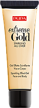 Духи, Парфюмерия, косметика Гель с шиммерным эффектом для лица и тела - Pupa Exteme Gold Sparkling All Over