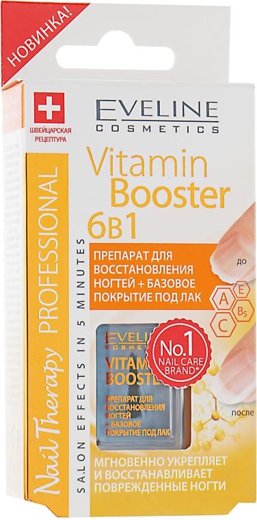 Базовое покрытие для лака 6в1 - Eveline Cosmetics Nail Therapy Professional: Vitamin Booster