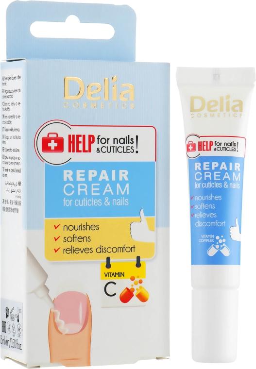 Регенерирующий крем для ногтей + витамин С - Delia Cosmetics Repair Cream