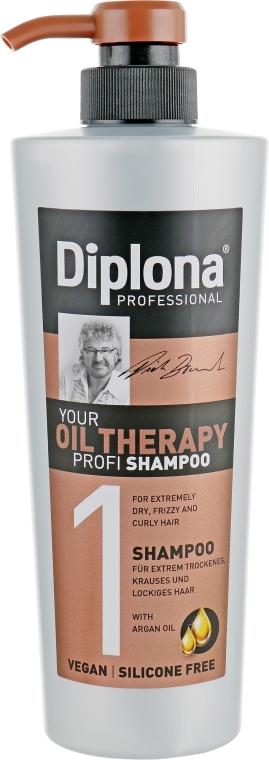 Шампунь с аргановым маслом для сухих и ломких волос - Diplona Professional Oil Therapy Shampoo