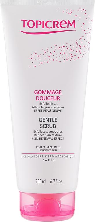 Скраб для тела для чувствительной кожи - Topicrem Gentle Scrub Skin Renewal Effect