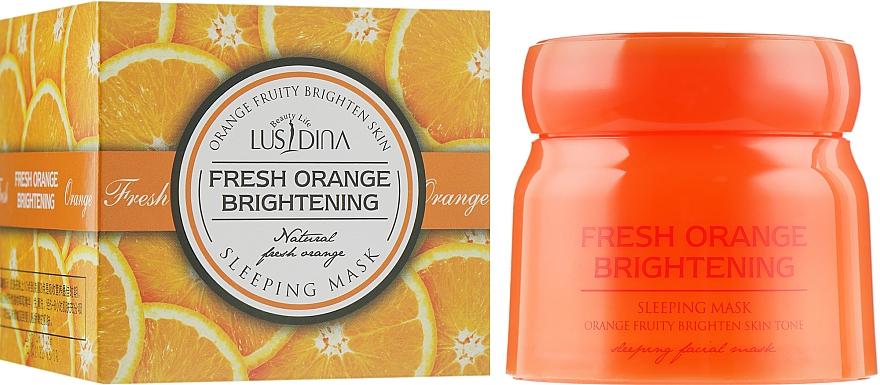 Ночная осветляющая маска для лица с экстрактом апельсина - Dizao Lusidina Fresh Orange Brightening