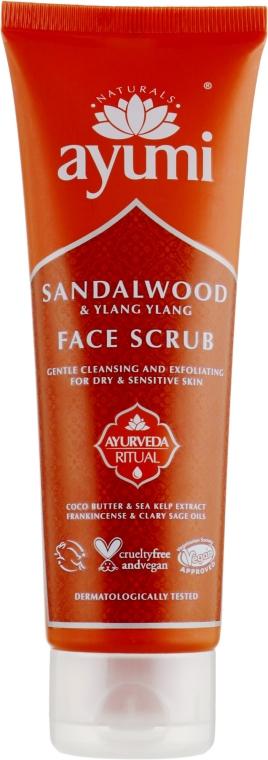 Скраб для лица - Ayumi Sandalwood & Ylang Ylang Face Scrub