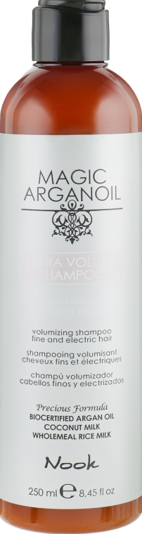 Шампунь для объема тонких и ослабленных волос - Nook Magic Arganoil Extra Volume Shampoo