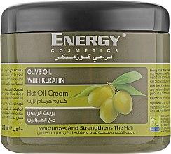 Духи, Парфюмерия, косметика Оздоравливающая крем-маска для волос с оливой и кератином - Energy Cosmetics Olive Oil With Keratin Hot Oil Cream