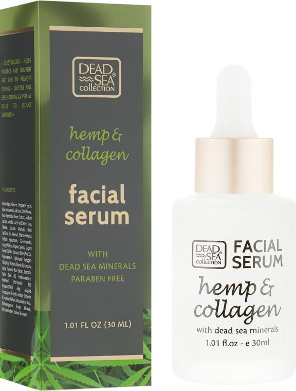 Сыворотка с экстрактом конопли, коллагеном и минералами Мертвого моря - Dead Sea Collection Hemp & Collagen Facial Serum