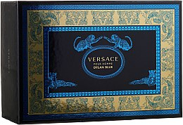 Духи, Парфюмерия, косметика Versace Pour Homme Dylan Blue - Набор (edt/100ml + edt/10ml + pouch)