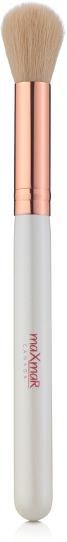 Кисть для нанесения сухих пудр, румян, бронзаторов, хайлайтеров и обработки контура лица, MB-176 - MaxMar